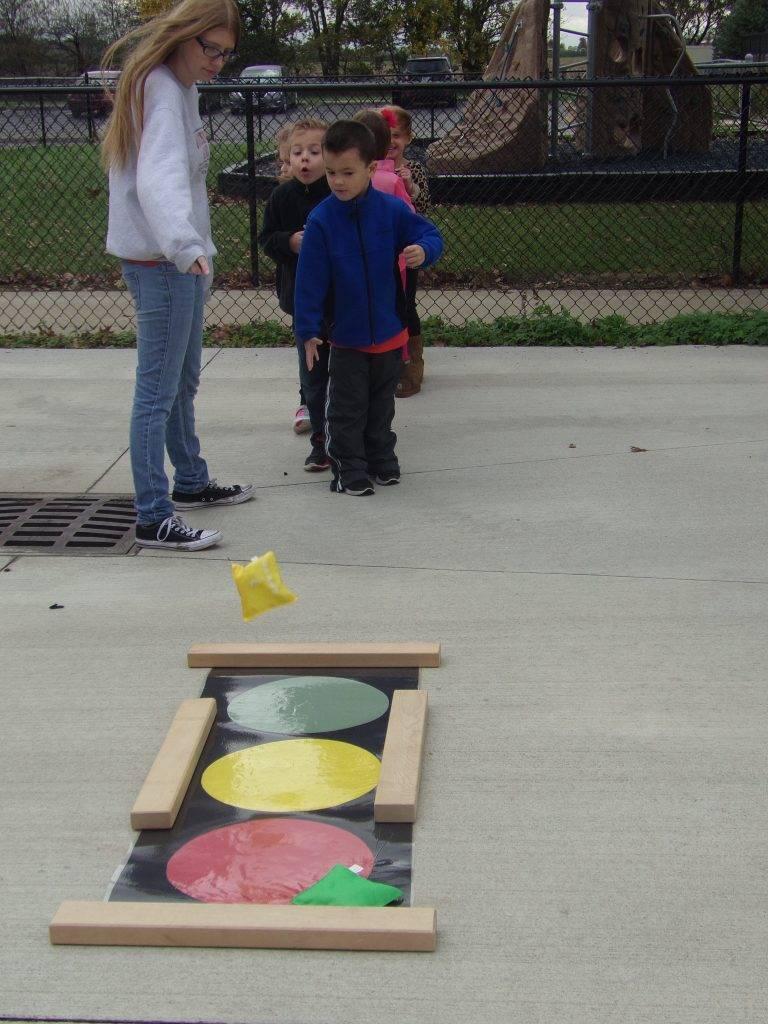 Preschoolers playing game