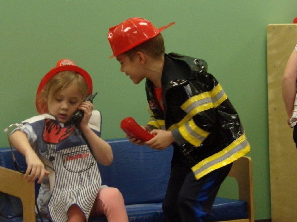 Preschoolers dressed in Halloween Costumes