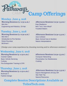 Pathways Camp Schedule